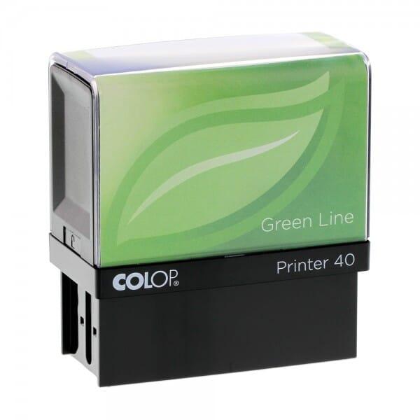 Colop Printer 40 Green Line (59x23 mm - 6 regels)