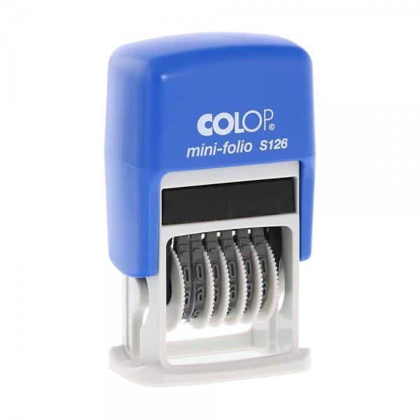 Colop Printer cijferstempel S 126 (SH 4 mm - 6 banden)