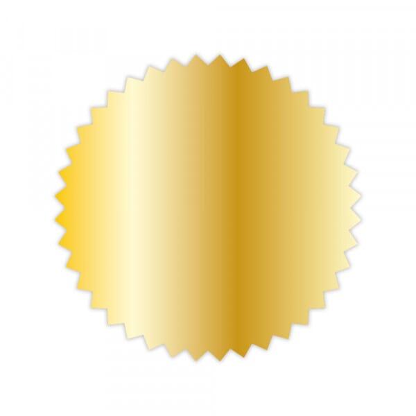 Notariszegel rol van 1000 stuks; diameter: 50 mm (goud)