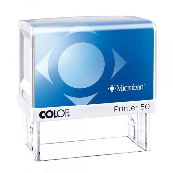 Colop Printer 50 Microban (69x30 mm - 7 regels)