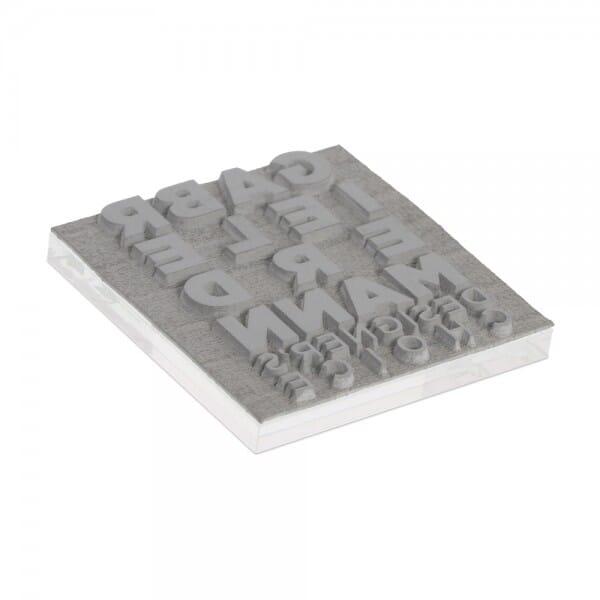 Tekstplaat voor Trodat Printy 4923 - 30 x 30 mm - 6 regels inkl. reservekussen