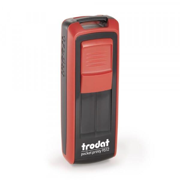 Trodat Pocket Printy 9512 - 47 x 18 mm - 4 regels