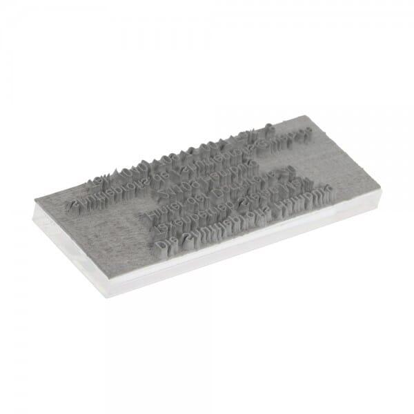 Tekstplaatje voor Printer 10 - 27x10 mm - 3 regels incl. reservekussen