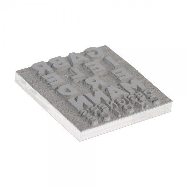Tekstplaatje voor Printer Q 17 - 17x17 mm - 4 regels incl. reservekussen