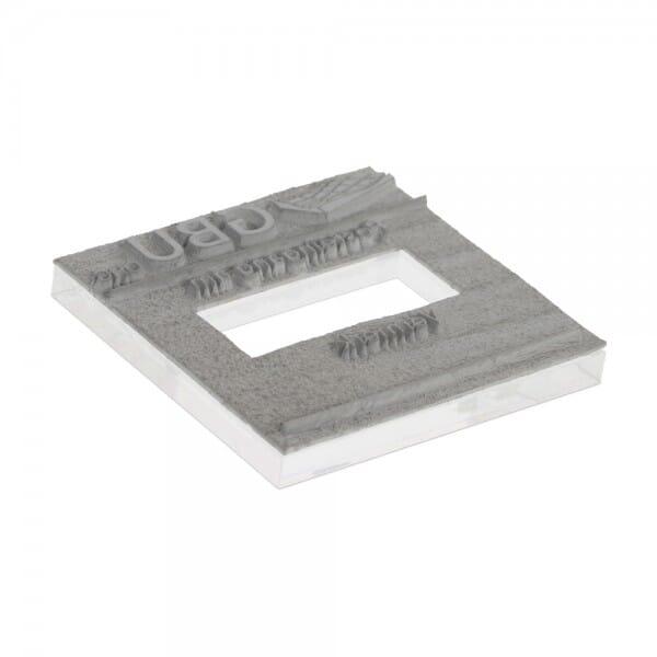 Tekstplaat voor Trodat Printy 4724 - 40 x 40 mm - 3 + 3 regels inkl. reservekussen