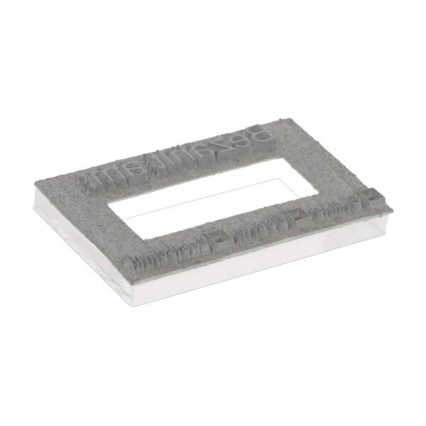 Tekstplaat voor Trodat Professional 55510PL en 5558PL - 56 x 33 mm - 2 + 2 regels inkl. reservekussen