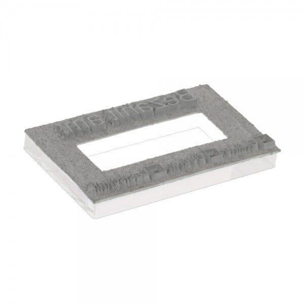 Tekstplaat voor Trodat Professional 5440 - 49 x 28 mm - 2 + 2 regels inkl. reservekussen