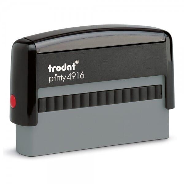 Trodat Printy 4916 - tekststempel - 70 x 10 mm - 1 bis 2 regels